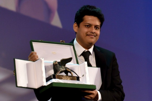 Writer and director Chaitanya Tamhane receives the Orizzonti Awa